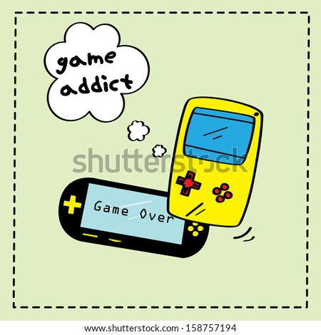 game console - stock vector