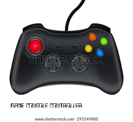 game console controller vector - stock vector