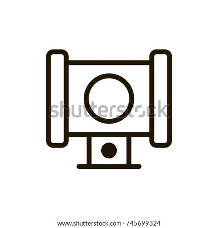 Joystick Flat Icon Single High Quality Stock Vector 745699348