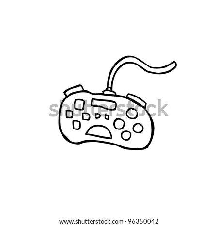 game console , gadget and joypad cartoon doodle, vector illustration - stock vector