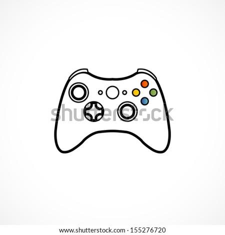 Game controller - stock vector