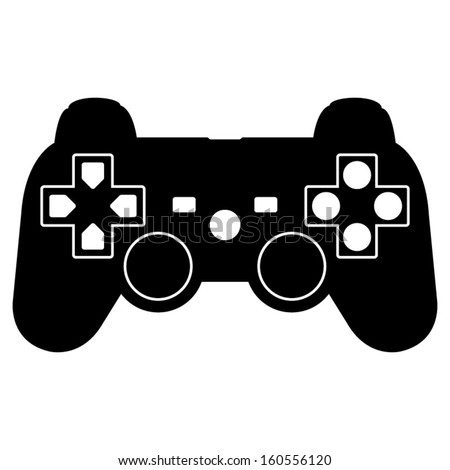Game controller icon - stock vector