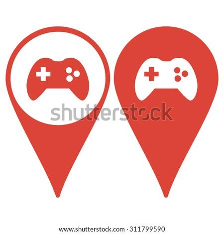 Game controller icon. Flat design style eps 10 - stock vector