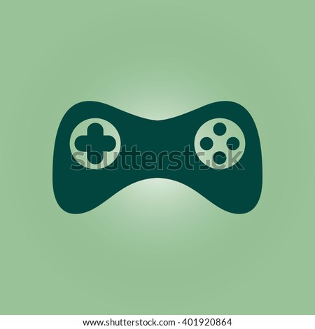 Game controller icon. Vector. Flat design style - stock vector