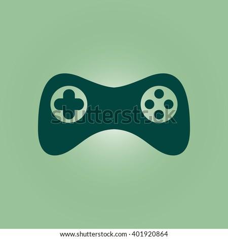 Game controller icon. Vector. Flat design style - stock vector