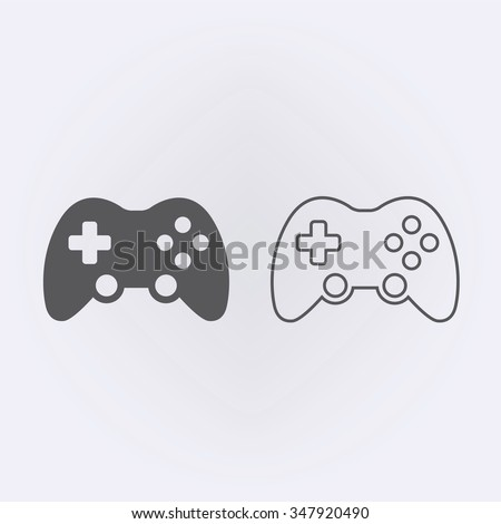 Game controller or joystick outline icon . Vector illustration - stock vector