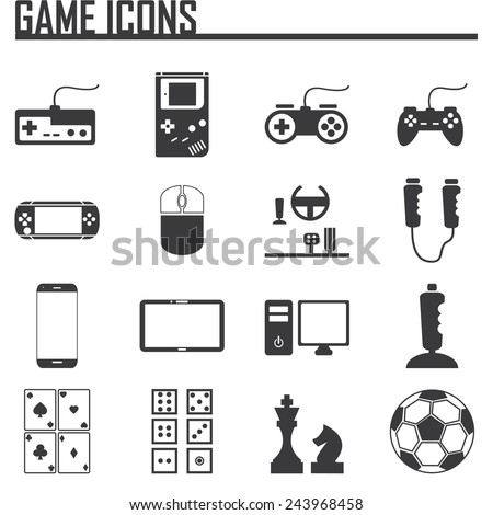 Game Entertaining Icons - stock vector