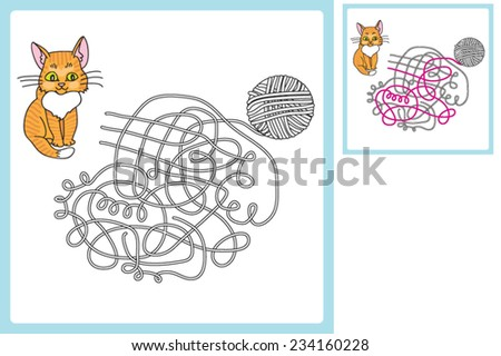 game find a thread that leads to the arm rests - stock vector