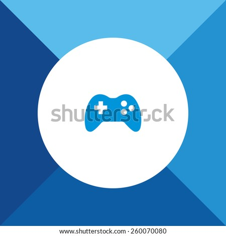 Game Icon on Blue Background. Eps-10. - stock vector