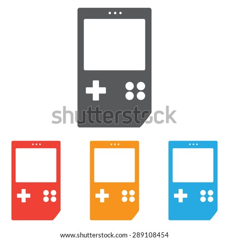 Game icon set, gameboy - stock vector