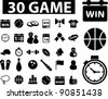 game icons set, vector - stock vector