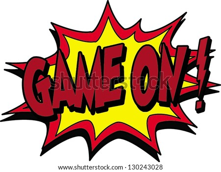 game on - stock vector