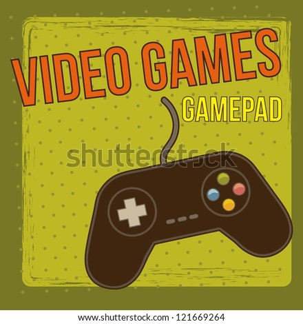game pad over vintage background. vector illustration - stock vector