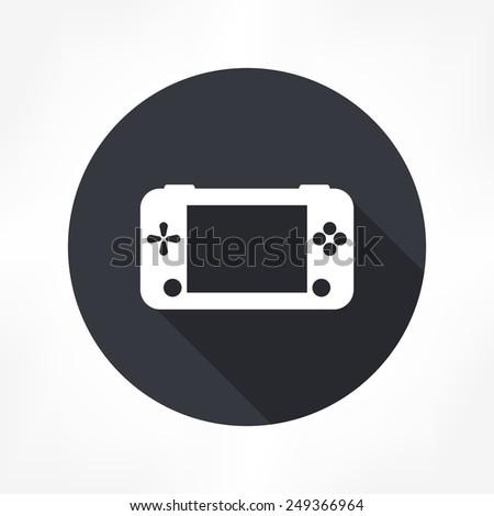 game portable icon - stock vector