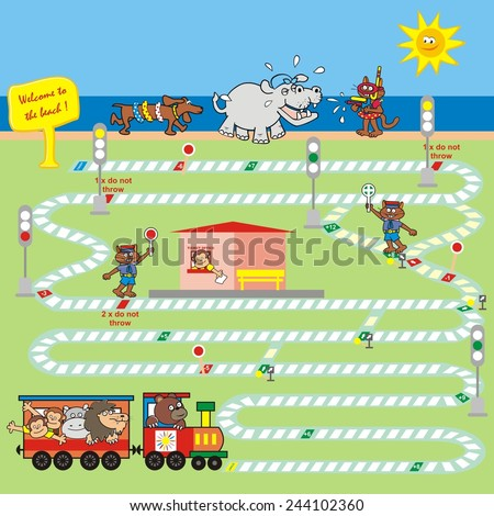 game, railway - stock vector