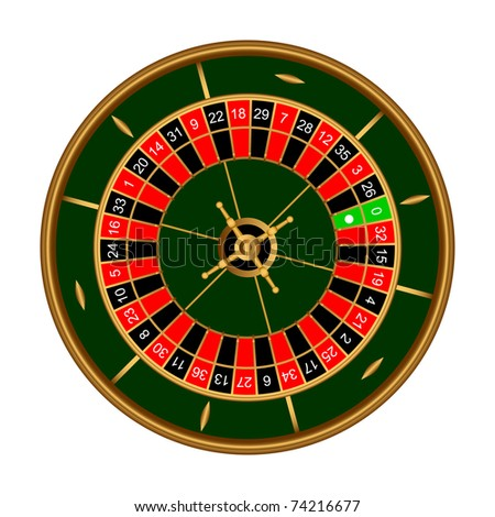 Game roulette on a white background. - stock vector
