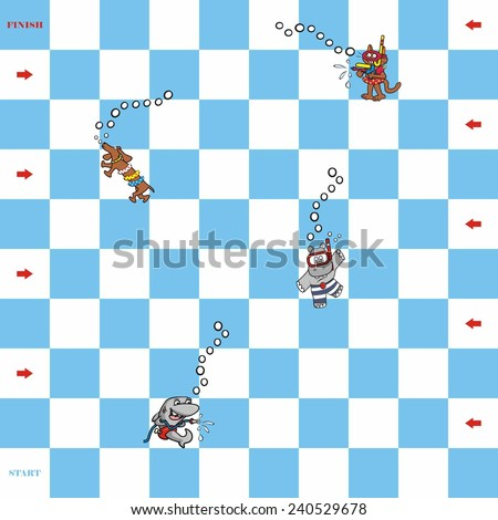game, water fun - stock vector