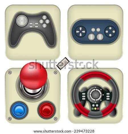 gamepad icons. EPS 10 illustration. - stock vector