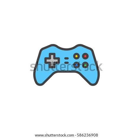 Gamepad Joypad Line Icon Outline Vector Stock Vector 586212335 ...