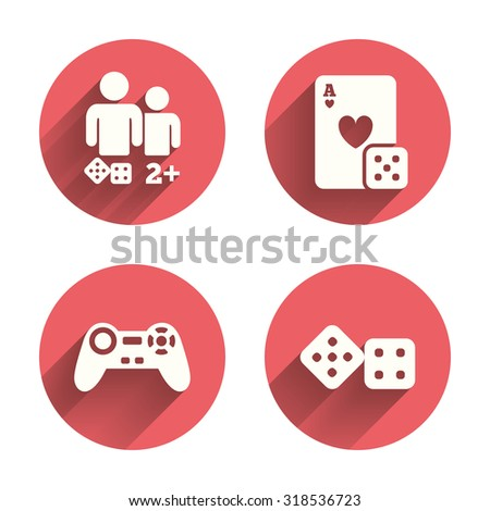 Gamer Icons Board Games Players Signs Stock Vector 318536723