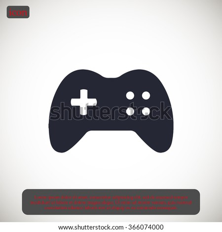 games icon vector - stock vector