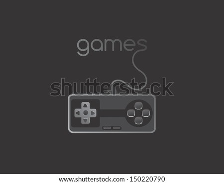games illustration - stock vector