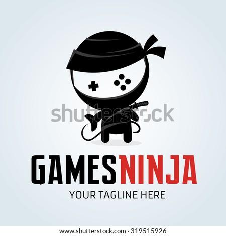 Games Ninjaninja Logogamergamingvector Logo Template Stock Vector