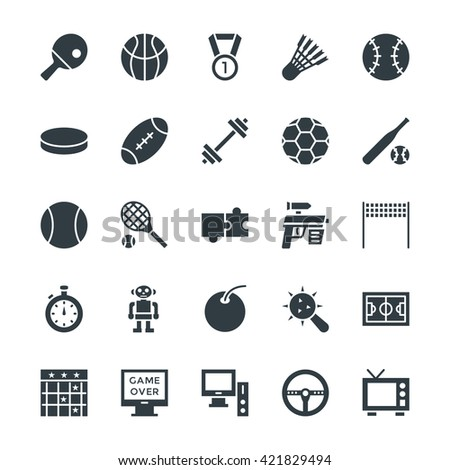 Gaming Cool Vector Icons 4 - stock vector