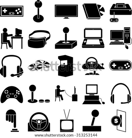 gaming symbols set - stock vector