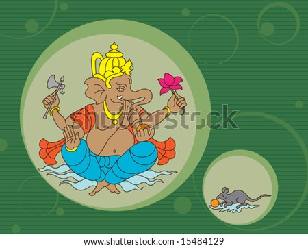Ganesh abstract background