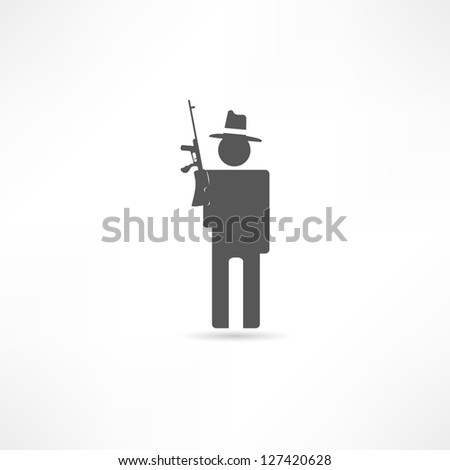 Gangster icon - stock vector