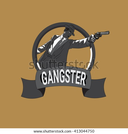 Gangster logo. mafia. clan. vector illustration - stock vector