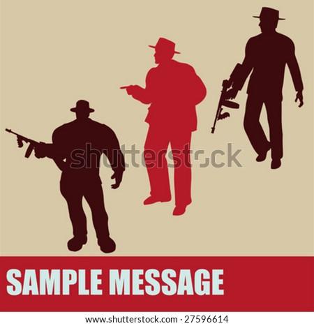 Gangster Offer Flyer - stock vector