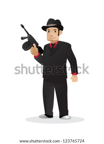 Gangster vector - stock vector