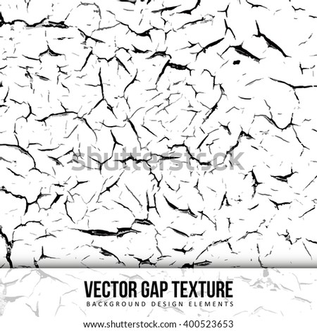 Gap texture. Old painter. Black and white vector illustration of grungy pattern.