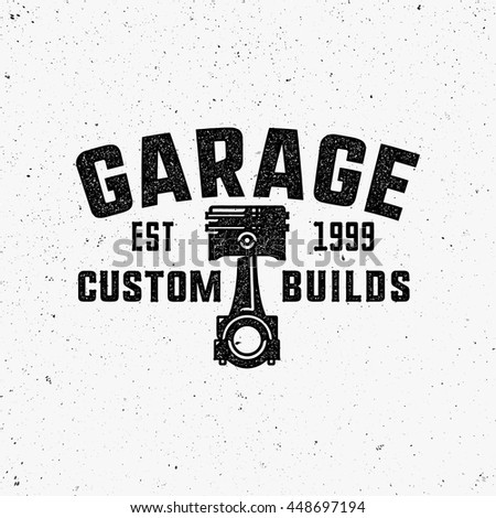 Piston stock images royalty free images vectors for Logo garage mecanique