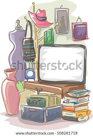 garage sale stock images royalty free images vectors shutterstock. Black Bedroom Furniture Sets. Home Design Ideas