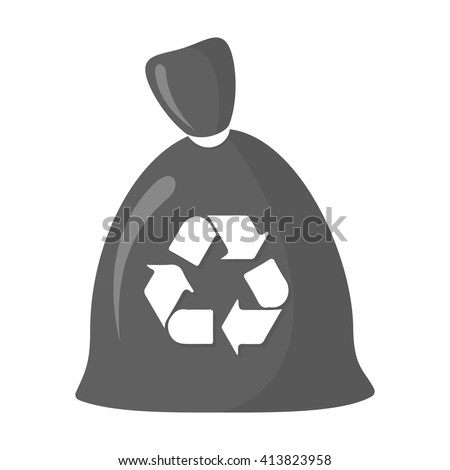 Garbage bag icon.  - stock vector