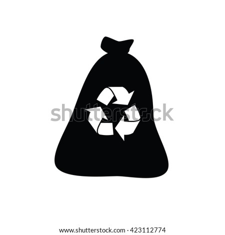 Garbage bag icon. Vector illustration - stock vector