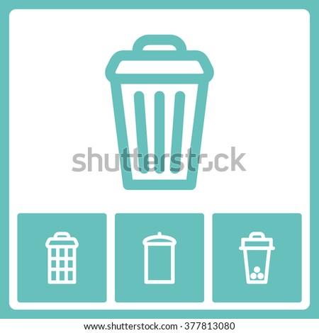 Garbage Icon Vector.  - stock vector