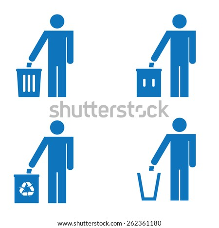 Garbage Recycling Sign - stock vector