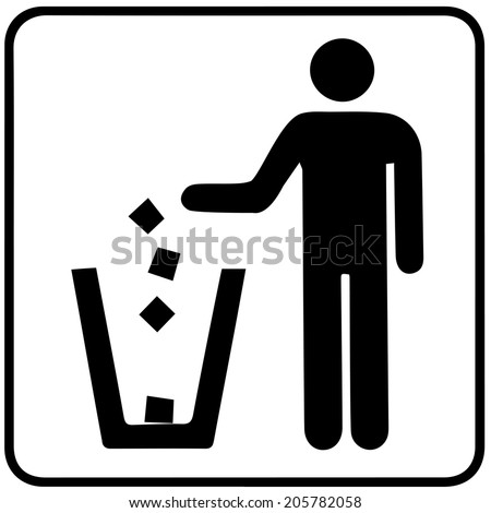 Garbage Recycling Symbol  - stock vector