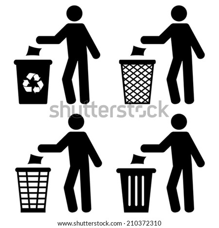 Garbage Recycling Trash Littering Symbol  - stock vector