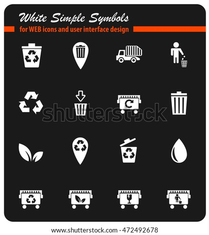 Garbage simply symbol for web icons and user interface