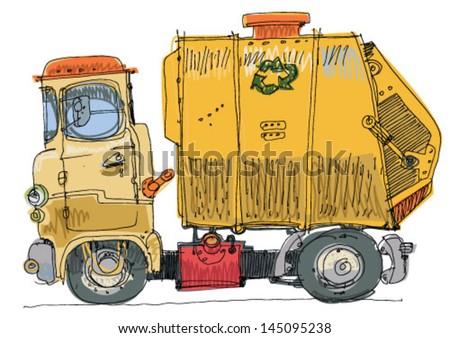 garbage truck cartoon - photo #21