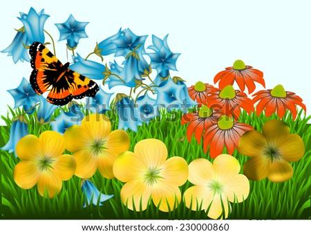 garden - stock vector