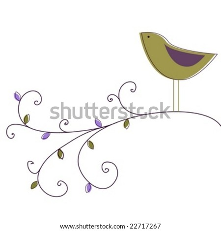 Garden bird - stock vector