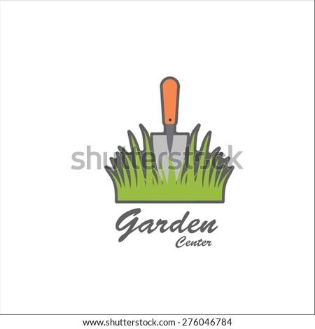 Garden center sign - stock vector