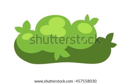 Garden green trees isolated on white background and garden tree vector illustration. Garden tree nature plant summer landscape design. Environment forest design gardening botanical - stock vector