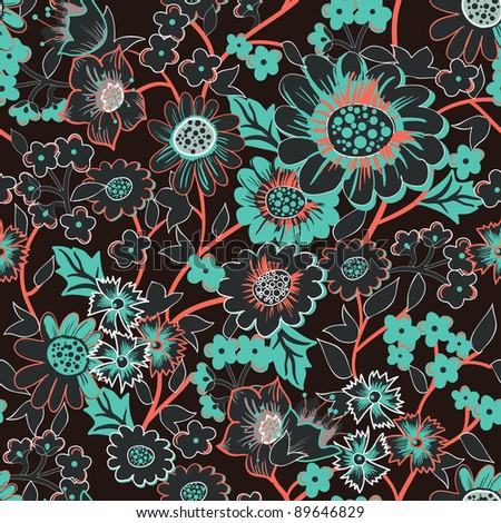 Garden pattern - stock vector